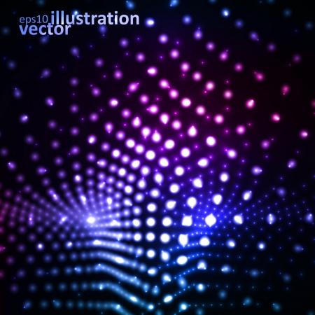 Creative dynamic element, light neon Illustrations. Stock Vector - 15535182