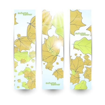 Autumn banner set Illustration