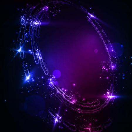 Abstract background  Creative dynamic element, shiny space illustration