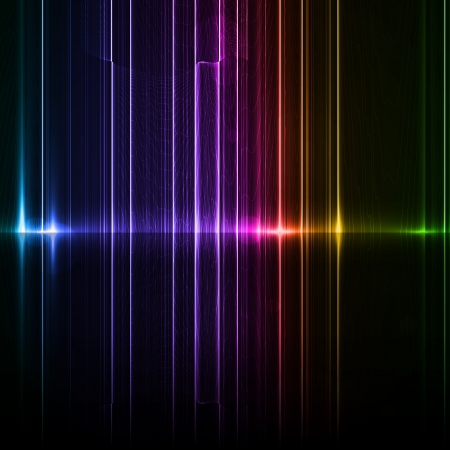 Technology template. Neon abstract, reflection lines backgrounds Stock Photo - 15567989