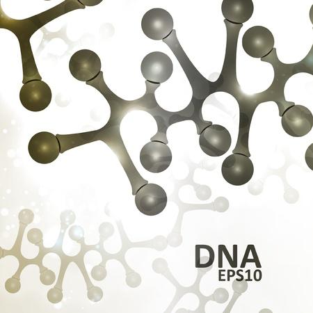 Futuristic dna, abstract molecule, cell illustration Stock Vector - 15683054