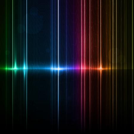 Tecnologia modello. Neon astratto, linee di riflessione sfondi Archivio Fotografico - 15714221