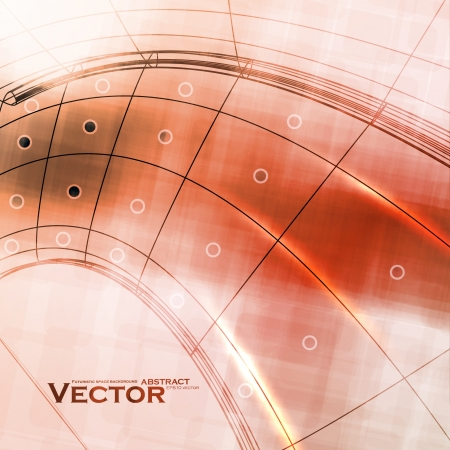 Abstract retro technology, technical background Vector