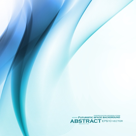 Astratto sfondo blu, illustrazione futuristico ondulata Archivio Fotografico - 15914339