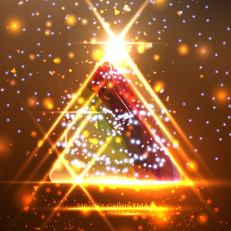 Abstract Christmas tree on the colorful background, illustration Stock Vector - 15914315