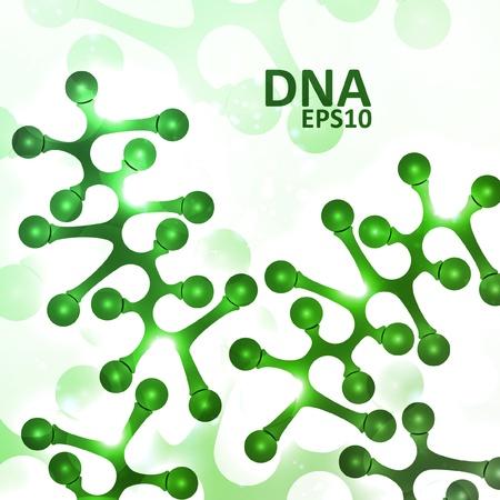 deoxyribose: Futuristic dna, abstract molecule, cell illustration Illustration