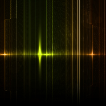 Technology template. Neon abstract, reflection lines backgrounds Stock Photo - 16109701