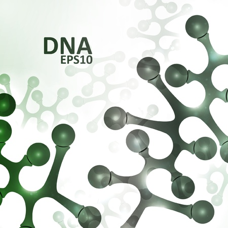 Futuristic dna, abstract molecule, cell illustration Stock Vector - 16109774