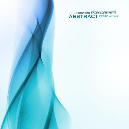 Abstract blue background,  futuristic wavy  illustration