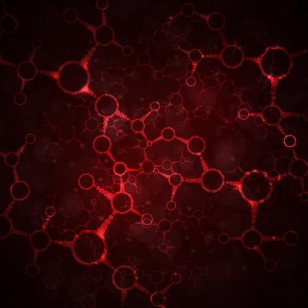 molecula: Dna futurista, mol�cula abstracta, ilustraci�n c�lula