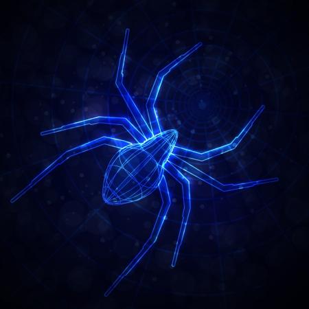 Abstract spider, technology energy illustration illustration