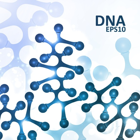 encoded: Futuristic dna, abstract molecule, cell illustration Illustration