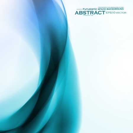 Abstract blue background,  futuristic wavy vector illustration