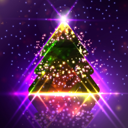 Abstract Christmas tree on the colorful background Stock Photo - 16698507