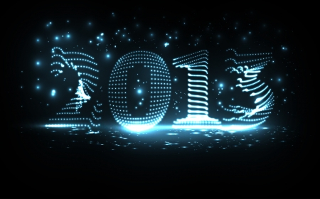 colorful lights: New Year celebration vector illustration, colorful lights elements - editable eps10
