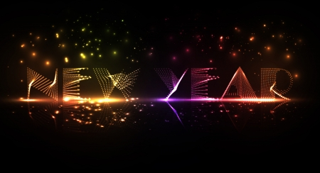 New Year celebration illustration, colorful lights elements Stock Illustration - 16912979