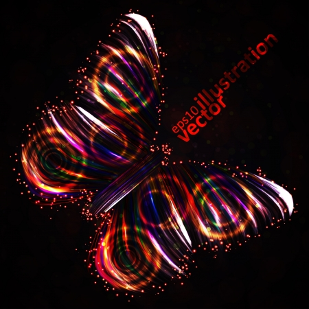 Shiny Butterfly abstract vector, futuristic colorful strip, stylish illustration Stock Vector - 17421162