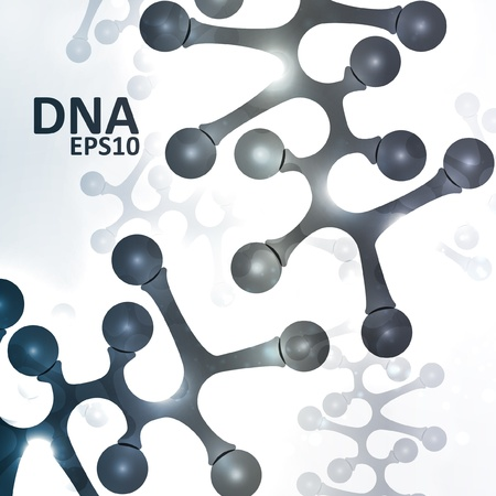 Futuristic dna, abstract molecule, cell illustration eps10 Vector
