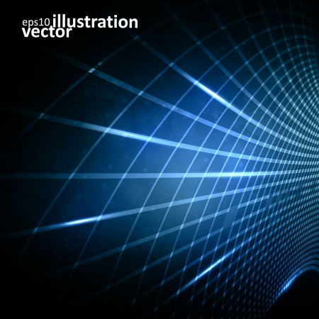 vector abstract: Abstract vector futuristic illustration , creative dynamic element. Illustration