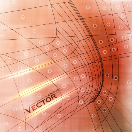 Abstract retro technology, vector technical background  Vector