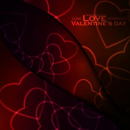 Neon hearts, abstract background, futuristic illustration - editable Stock Vector - 17513122
