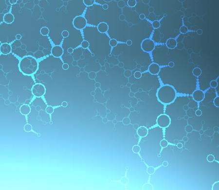 Futuristic dna, abstract molecule