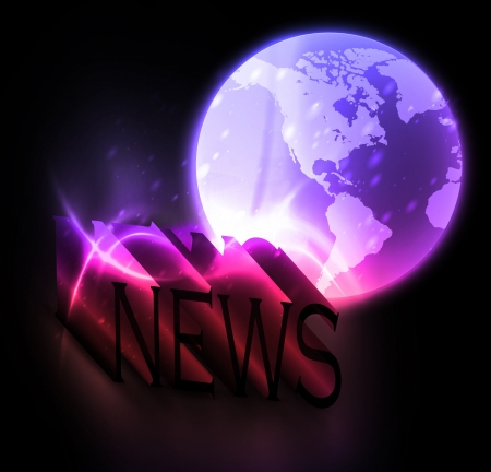3d colorful news Stock Vector - 17680714