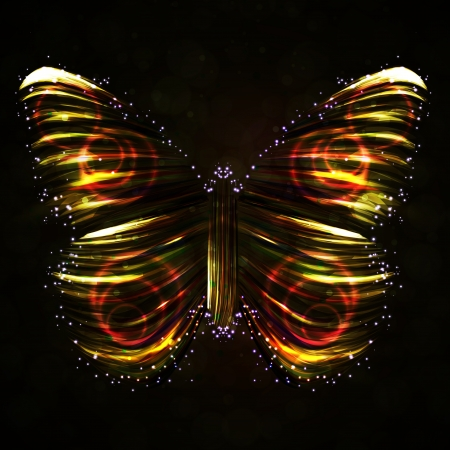 Shiny Butterfly abstract , futuristic colorful strip, stylish illustration Stock Illustration - 17905207