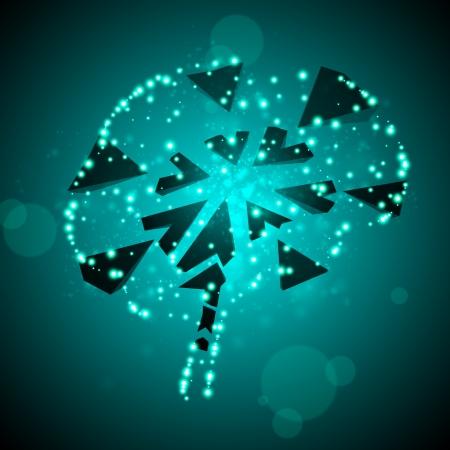 Brain crushing  illustration, abstract light background Stock Vector - 18094737