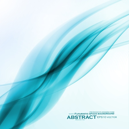 Abstract blue background,  futuristic wavy  illustration  Vector