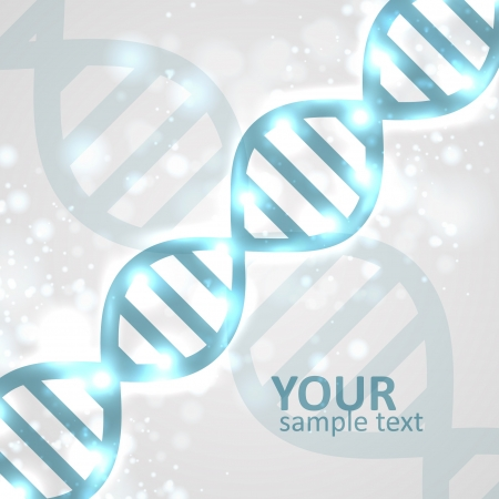 deoxyribose: Abstract DNA, futuristic molecule, cell illustration eps10