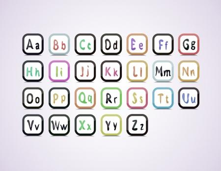 twenty six: editable English alphabet