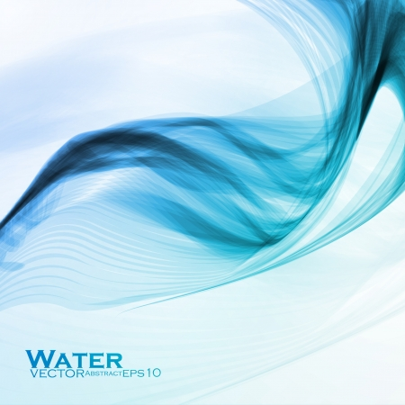 movement: Abstract water background, vector wave illustration