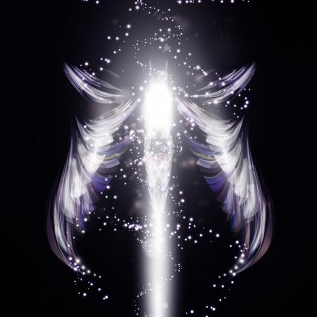 ange gardien: Ange de fond futuriste Banque d'images