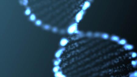 DNA astratto, molecola futuristico, illustrazione delle cellule Archivio Fotografico - 18842125