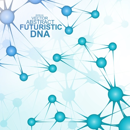 Futuristic dna, abstract molecule, cell illustration Stock Vector - 19133906