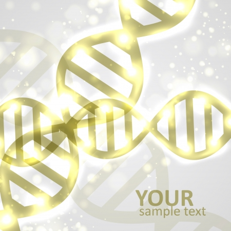 Abstract DNA, futuristic molecule, cell illustration Stock Vector - 19132469