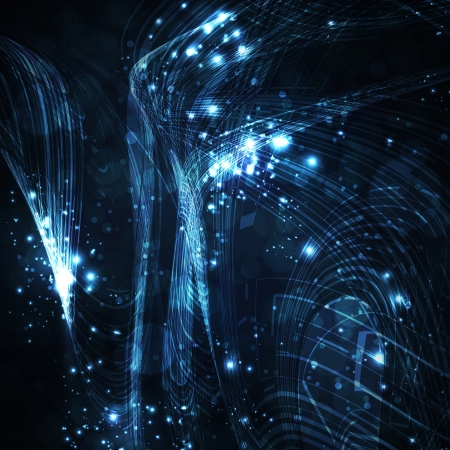 Abstract background, shiny space