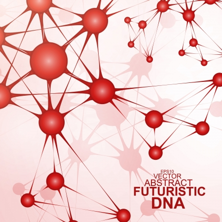 Futuristic dna, abstract molecule, cell illustration Stock Vector - 19354918