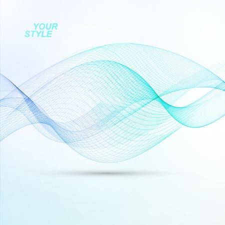 dynamic movement: Resumen de vectores de fondo, futurista ilustraci�n ondulado de color azul