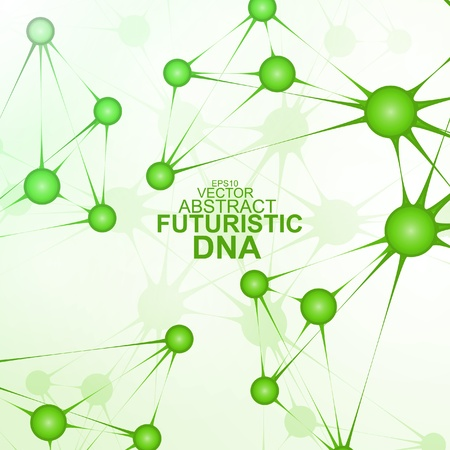 Futuristic dna, abstract molecule, cell illustration Stock Vector - 19717081