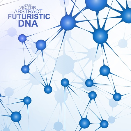 Futuristic dna, abstract molecule, cell illustration  Stock Vector - 19968356