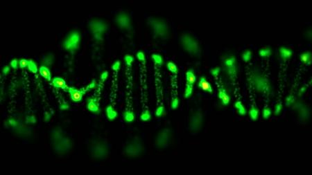 Abstract DNA, futuristic molecule, cell illustration Stock Illustration - 19968107