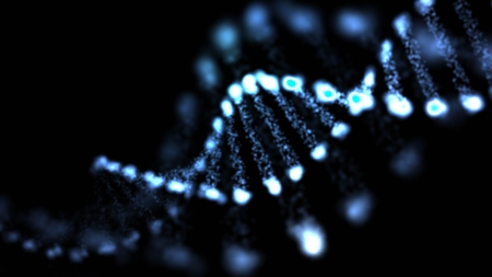 deoxyribonucleic: Abstract DNA, futuristic molecule, cell illustration  Stock Photo