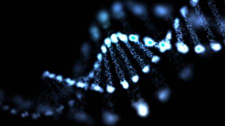 Abstract DNA, futuristic molecule, cell illustration  Archivio Fotografico