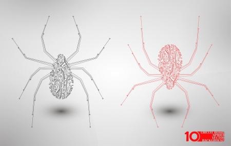 Circuit board background, technology illustration, spider illustration Stock Vector - 20176685