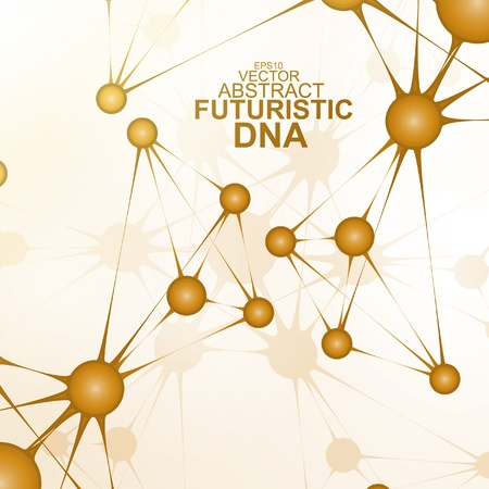 Futuristic dna, abstract molecule, cell illustration eps10 Stock Vector - 20176696