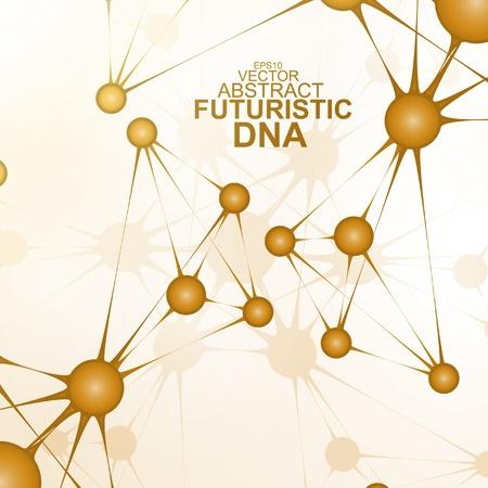 Futuristic dna, abstract molecule, cell illustration eps10 Stock Vector - 20176696
