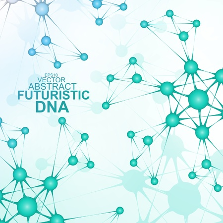 Futuristic dna abstract molecule cell illustration Stock Vector - 20621197