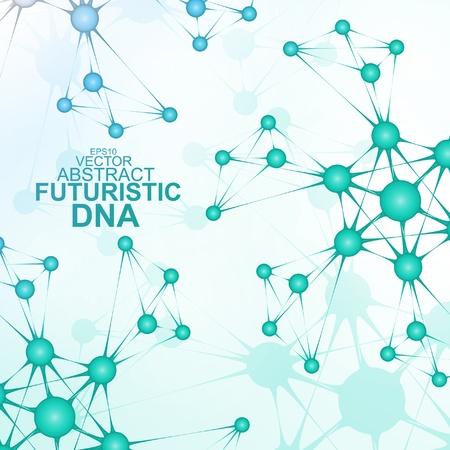 Futuristic dna abstract molecule cell illustration Stock Vector - 20621197